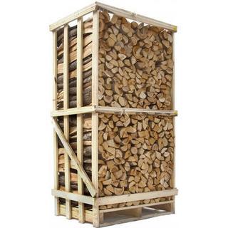 Lufttørret blandet Løvtræ 700kg Palle