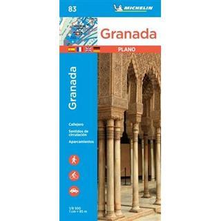 Granada - Michelin City Plan 83 (Ukendt format, 2019)