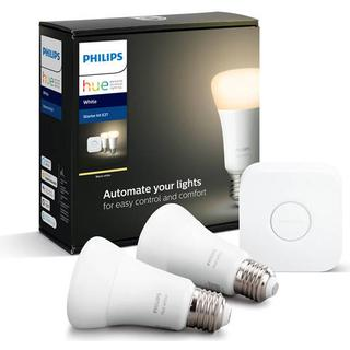 Philips Hue White LED Lamps 9W E27 2-pack Starter kit