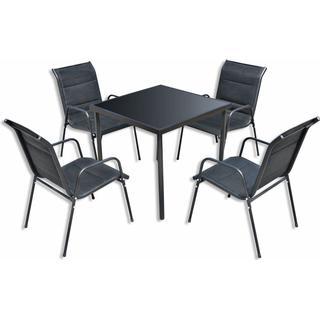 vidaXL 43312 Havemøbelsæt, 1 borde inkl. 4 stole