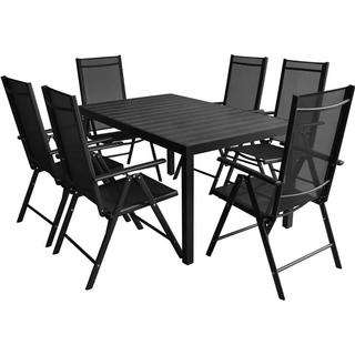 vidaXL 42770 1 Table incl. 6 Chairs Havemøbelsæt, 1 borde inkl. 6 stole