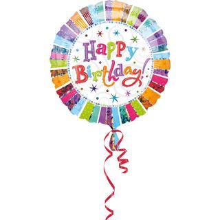 Amscan Foil Ballon Standard Radiant Happy Birthday