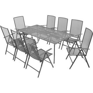 vidaXL 42720 Havemøbelsæt, 1 borde inkl. 8 stole