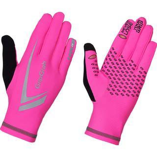 Gripgrab Running Expert Hi-Vis Gloves - Pink Hi-Vis