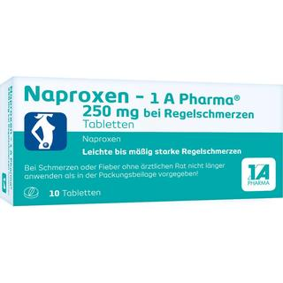 Naproxen-1A Pharma 250mg 10stk