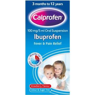 Calprofen Ibuprofen Strawberry 100mg/5ml 100ml