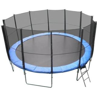 XXL Trampoline 490cm + Safety Net + Ladder