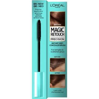 L'Oreal Paris Magic Retouch Precision Instant Grey Concealer Brush Brown 8ml