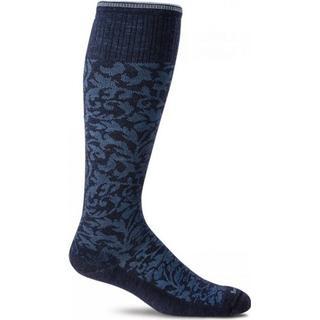 Sockwell Damask Socks Women - Navy