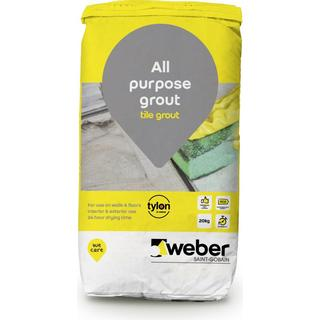 Weber Grout White Grey 25kg