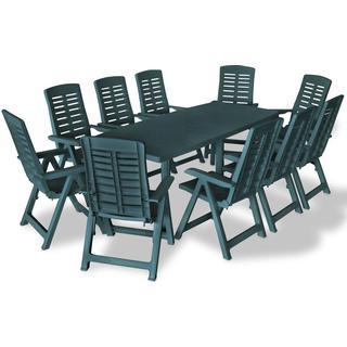 vidaXL 275082 Havemøbelsæt, 1 borde inkl. 10 stole