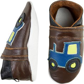 CeLaVi Leather Slippers - Hazel Brown