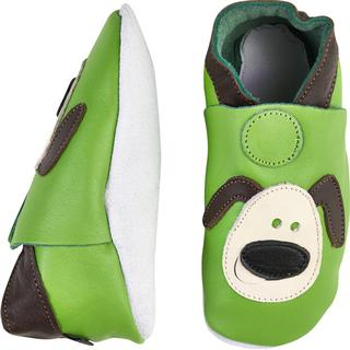 CeLaVi Leather Slippers - Lime
