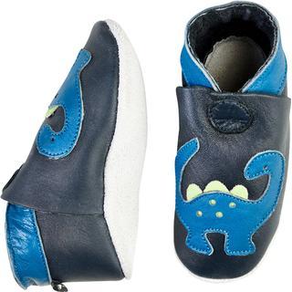 CeLaVi Leather Slippers - Dark Navy
