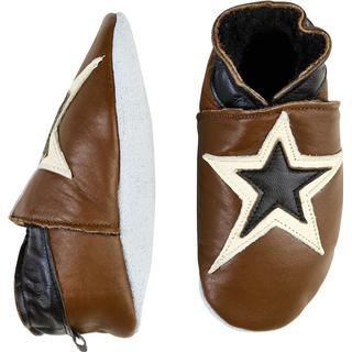 CeLaVi Leather Slippers - Light Brown