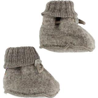 Joha Wool Fleece Baby Shoes - Sesame