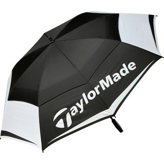 """TaylorMade 64"""" Double Canopy Umbrella Black/White/Charcoal (B1600601)"""