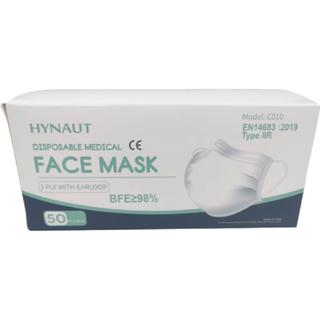 Hynaut Medical Mask Type IIR 3-Layer 50-pack
