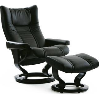 Ekornes Stressless Wing with Footstool Leather Lænestol