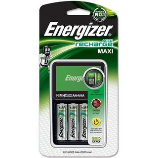Energizer NiMH Battery Charger + AA 2000mAh Battery 4-pack