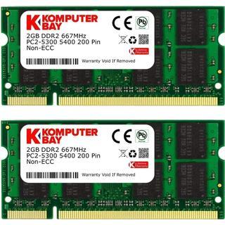 Komputerbay DDR2 667Mhz 4GB (KB_4GB_2X2GB_PC2_5300_667_SODIMM)