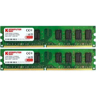 Komputerbay DDR2 533Mhz 4GB (KB_4GB_2X2GB_PC2_4300_533_DIMM)
