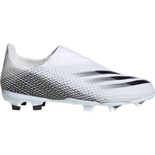 Adidas Junior X Ghosted.3 Laceless FG - Cloud White/Core Black/Cloud White