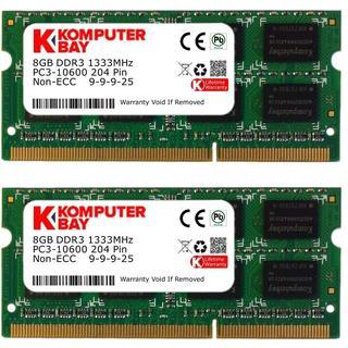 Komputerbay DDR3 1333Mhz 16GB (KB_16GB_2X8GB_1333_SODIMM_CL9_PC)