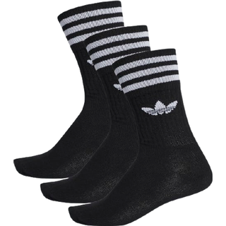 Adidas Solid Crew Socks 3-pack - Black/White
