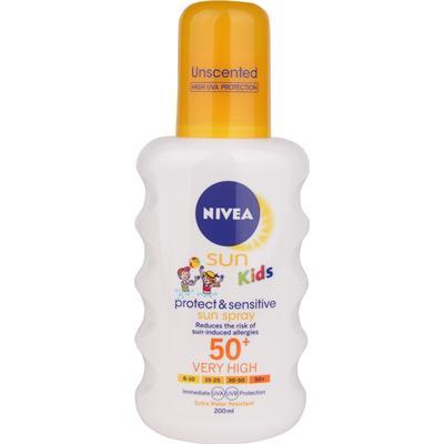 Nivea Solbeskyttelse & Sensitiv Solspray SPF50+ 200ml