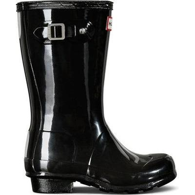 Hunter Original Big Kids Gloss - Black