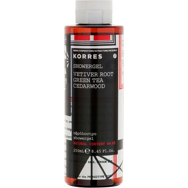 Korres Vetiver Root Green Tea & Cedarwood Shower Gel 250ml
