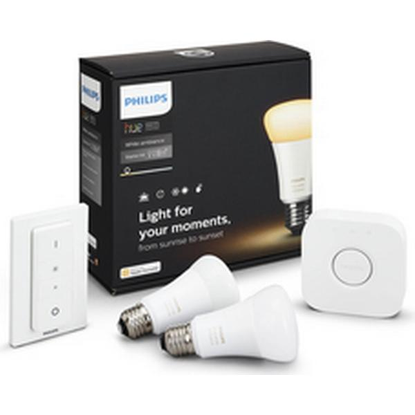Philips Hue White Atmosphere LED Lamp 9.5W E27 2 Pack Starter Kit