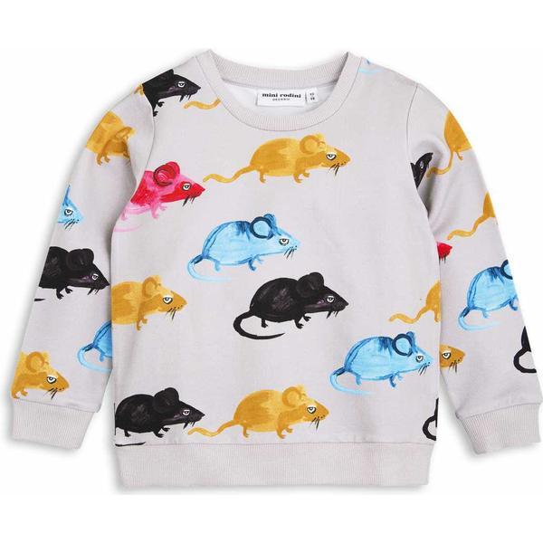 Mini Rodini Mr Mouse Sweatshirt - Light Grey