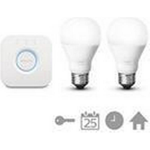 Philips Hue White LED Lamp 9.5W E27 2 Pack Starter Kit