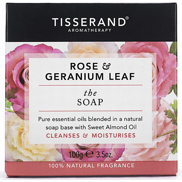 Tisserand The Soap Rose & Geranium Leaf 100g
