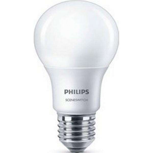 Philips Scene Switch LED Lamp 60W E27 4 Pack
