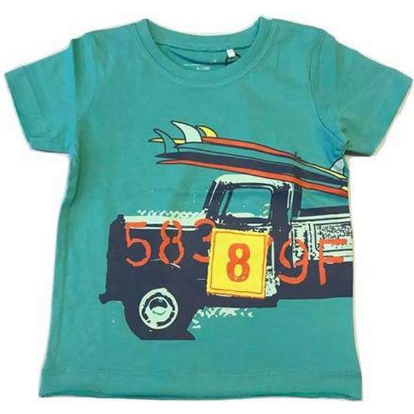 Name It Mini Printed T-shirt - Green/Pool Blue (13154662)
