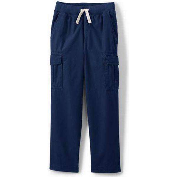 Lands End Boys Iron Knees Pull-on Cargo Trouser - Deep Sea (500946)