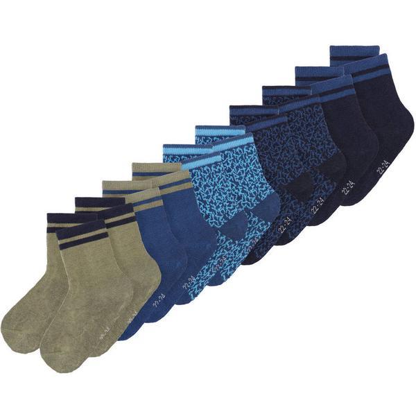 Name It Mini 10-pack Socks - Blue/Dark Sapphire (13162718)