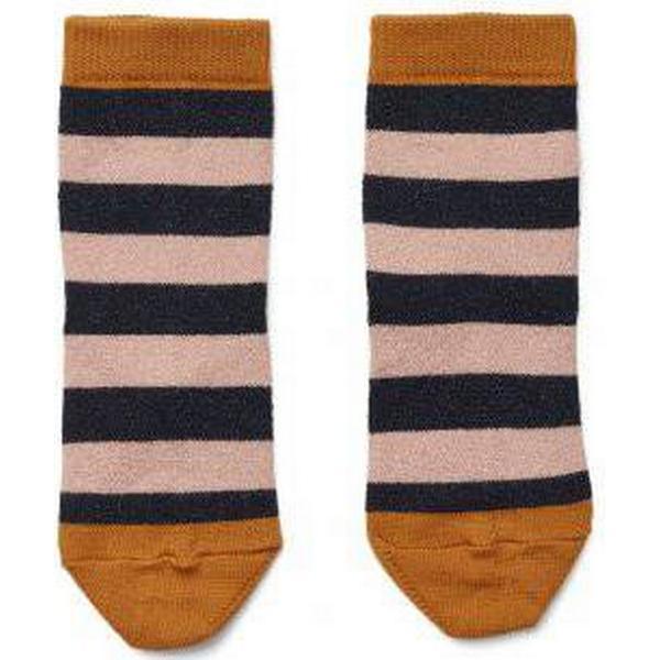 Liewood Silas Lurex Socks Stripe - Rose/Navy