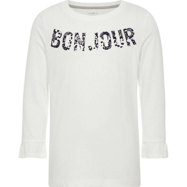Name It Kids Printed Long Sleeved Top - White/Snow White (13148868)