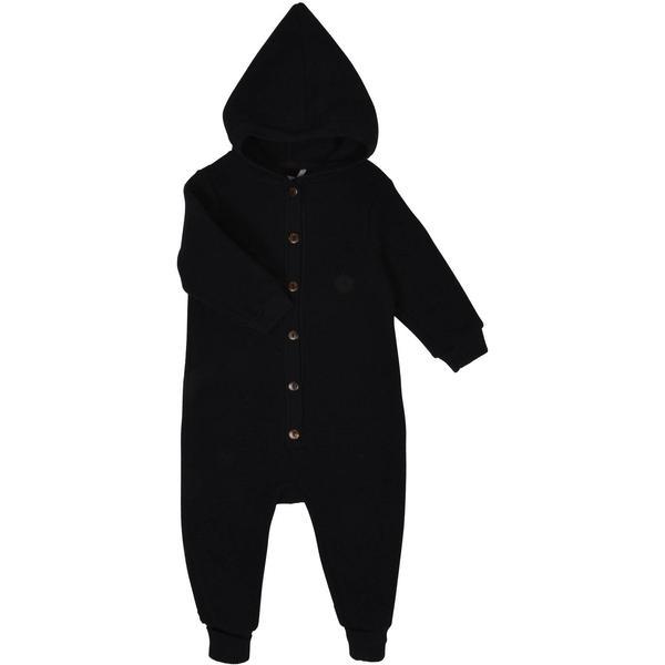 Mikk-Line Wool Baby Suit w. Hat - Black (50008-190)