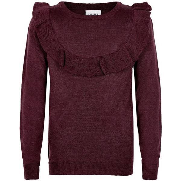 The New Aya Flounce Sweater - Grape Wine (TN2029)