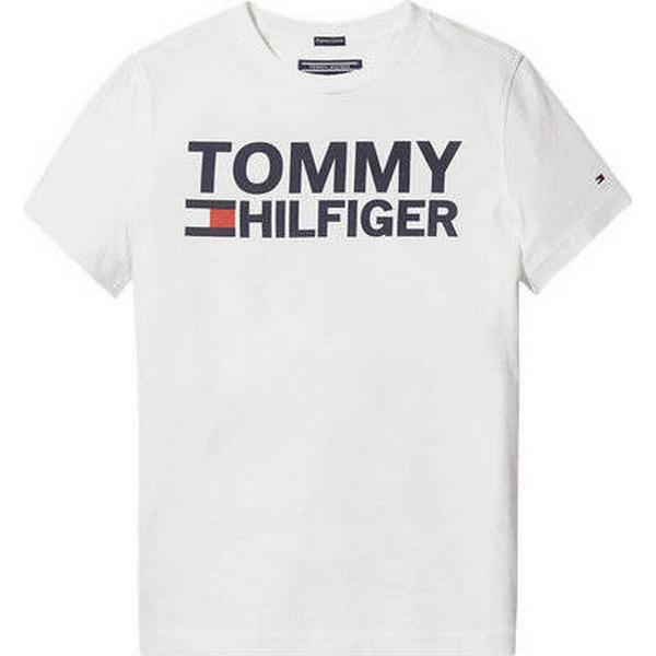 Tommy Hilfiger Organic Cotton Logo T-Shirt - Bright White (KB0KB04078)