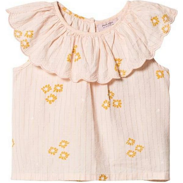Noa Noa Miniature Sleeveless Top with Ruffled Collar - Peachy Keen (2-4619-1)