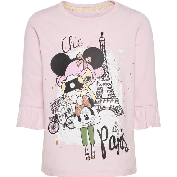Name It Mini Minnie Mouse Print Long Sleeved Top - Pink/Lilac Snow (13155385)