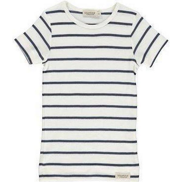 MarMar Stribet Kortærmet T-shirt - Gentle Blue/White (181-112-03-0838)