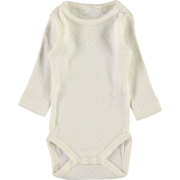 Name It Baby Pointelle Long Sleeved Bodystocking White/Snow White (13148823)
