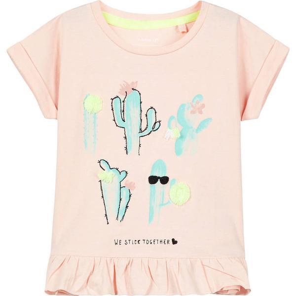 Name It Mini Cactus Printed T-shirt - Pink/Peachy Keen (13153195)